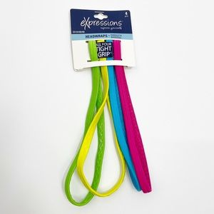 3/$20 NWT Expressions headbands head wraps neon